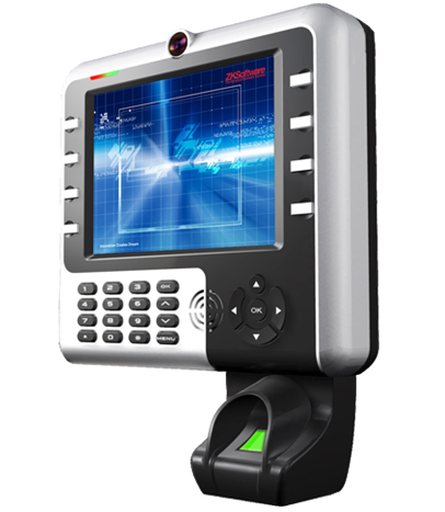 Biometric time & attendance reader.