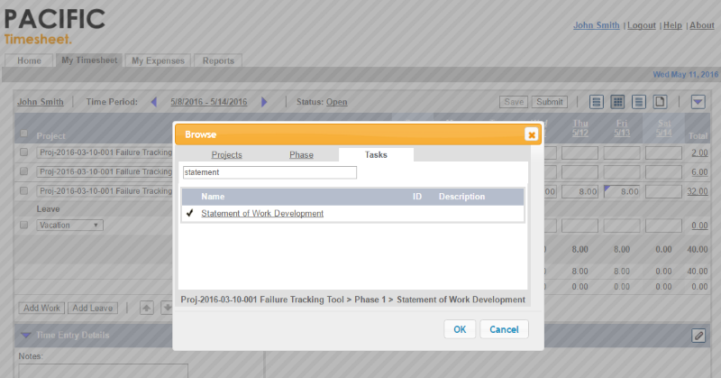Project Timesheet Software