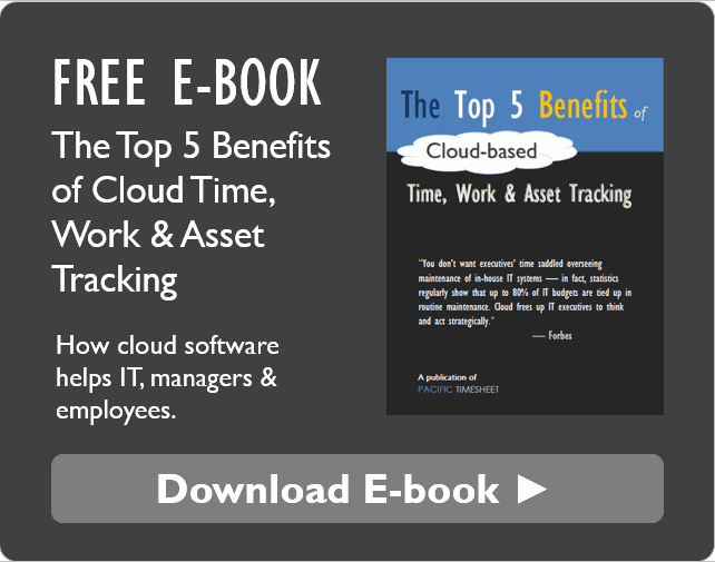 top 5 benefits of cloud time work and asset tracking