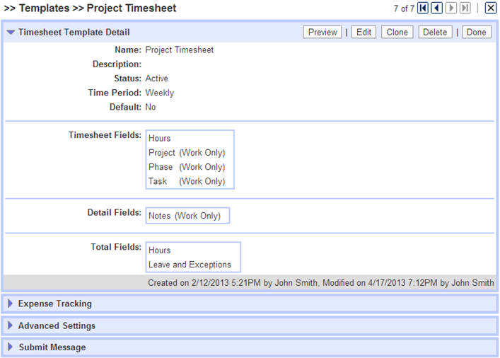 enterprise product tour project timesheets